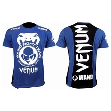 UFC MMA VENUM Blue Wand Shirt (Body Fit Elastic) Baju (Brazil Import)