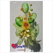 Q-DIP WITH BEADS BUNGA TELUR / HAND MADE Q-DIP WEDDING FLOWER