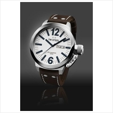 TW Steel CE1006 CEO Canteen 50mm Day-Date Mineral 100M Leather White