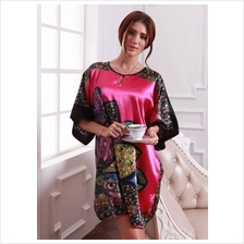 Appealing Exotic Multi-Color Design  & Maroon Mixed Sleeves Dress Pyjamas