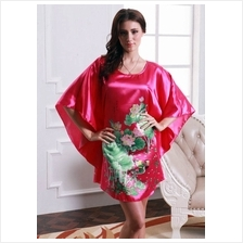 Appealing Butterfly-Shape Dress Pyjamas With Maroon  & Flowery Design