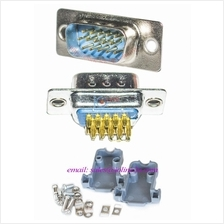 D-Sub VGA Male Connector High quality Set with cover