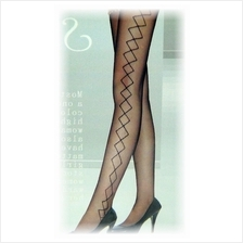 Fashion Pantyhose With Sexy Side Square Design