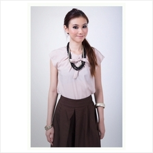 Trendy Ribbon Straps Casual Top