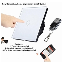 Glass Touch Switch Remote/Smartphone Wireless Light/Fan Control