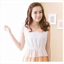 Fashion Two-Piece Joint Collar Dress With Lace