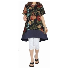 Fashion Flax Commoner Retro Floral Design Dress