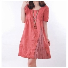 Fashion Square Neck Casual Tunic Dress