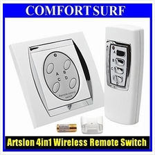 4-channel 4 Gang Digital Wireless Remote Control Wall Switch 220V~240V