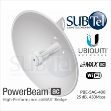 PBE-5AC-400 Ubiquiti PowerBeam AC 5GHz 25 dBi PTP UBNT Malaysia Bridge