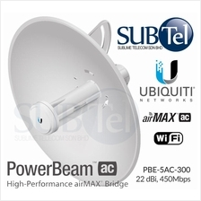 PBE-5AC-300 Ubiquiti PowerBeam AC 5GHz 22 dBi PTP UBNT Malaysia Bridge