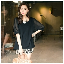 Trendy 3/4 Sleeve Batwing Top