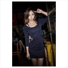 Fashion Slim Mini Dress With Open Stylish Side