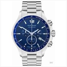 Claude Bernard . 10204 3 BUIN . Aquarider (M) Chrono SS Bracelet Blue