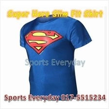 Super Hero Slim Body Fit Compression Shirt baju - Super Man 2(elastic)