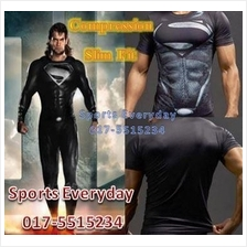 SuperHero DC Justice Compression Shirts Baju Super Man Short Sleeves 2