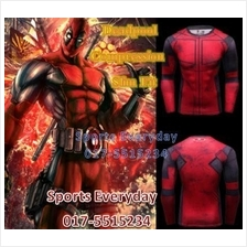 Super Hero Slim Fit Compression Shirt baju - Super Man 8 Long Sleeve