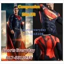 SuperHero DC Justice Compression Shirts Baju Super Man Long Sleeves 1