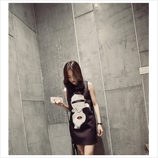 Fashion Cute Cartoon Design Sleeveless Dress