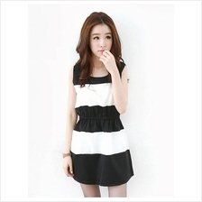 Fashion Mix Tones Sleeveless Lady Mini Dress