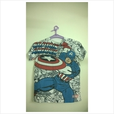 Captain America Couple Shirt (Kapten Amerika Shirt Pasangan Kekasih)