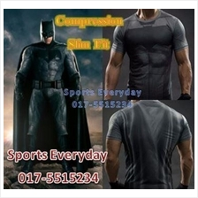 SuperHero DC Justice Compression Shirts Baju Bat Man Short Sleeves 2