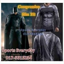SuperHero DC Justice Compression Shirts Baju Bat Man Long Sleeves 2