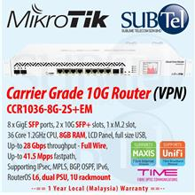 CCR1036-8G-2S+EM Mikrotik Gigabit Router 10 port 36 core Malaysia