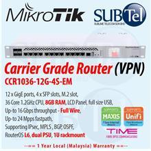 CCR1036-12G-4S-EM Mikrotik Gigabit Router 16 port 36 core Malaysia