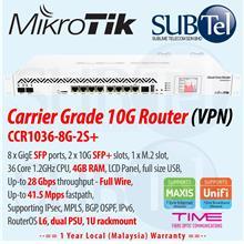 CCR1036-8G-2S+ Mikrotik Gigabit Router 10 port SFP+ Malaysia