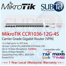 CCR1036-12G-4S Mikrotik Gigabit Router 16 port 36 core Malaysia