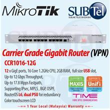 CCR1016-12G Mikrotik Gigabit Router 12 port 16 core Malaysia