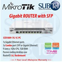 CCR1009-7G-1C-PC Mikrotik Gigabit Router 8 port SFP MPLS Cloud Silent