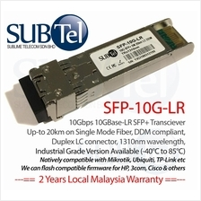 10Gb/s 10km SFP Plus (SFP+) Transceiver 1310nm SMF 10GBASE-LR Ubiquiti