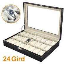 Premium 24 Slot PU Leather Watch Display Storage Box Case  Ready Stock