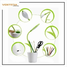 Bean Sprout Adjustable USB LED Desk Table Lamp Light with Pen Storage