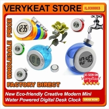 New Eco-friendly Creative Modern Mini Water Powered Digital Desk Clock