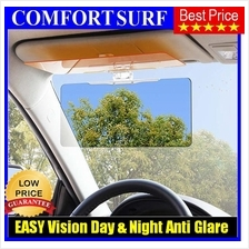 HD Clear EASY Vision Day Night Sun Visor Anti-Glare Dazzle UV Clip ON
