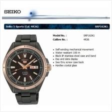 SEIKO . SRP162K1 . SEIKO 5 . M . Day-Date . SSB . Automatic . Black IP