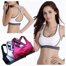 Seamless Lycra Padded Bra Racerback Top Athletic Vest Gym Sport Bra