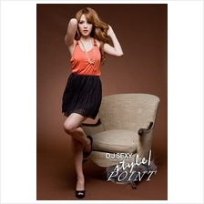 Fashion Two-Piece Joint Tank Top With Chiffon Skirt