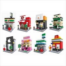 Hsanhe Lego Compatible Mini Street Nano Blocks Collection Game Kid Mcd