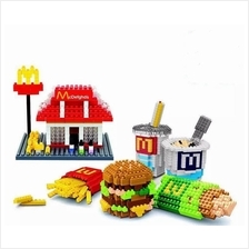 McD Mcdonald 6 In 1 Nanoblock Blocks Toy Collection Games kid Lego