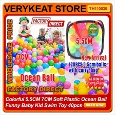 Colorful 5.5CM/7CM Soft Plastic Ocean Ball  Baby Kid Swim Toy 40pcs