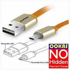 CLIPTEC Duable Reversible Micro USB Cable OCC132 Charge & Sync