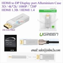 UGREEN DP male to HDMI Female 4k*2K 3D 24K Gold plated display port Full HD Co