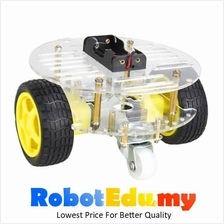 Arduino 2WD 2 Layer Smart Sumo Caster Round Robot Car Chassis Kit