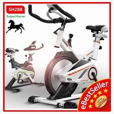 Superhorse Gym Fitness Spinning Bicycle Exercise Bike Spring System