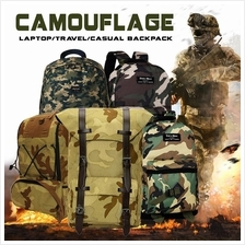 Camo Leisure Laptop Travel Casual Backpack Army Design School Bag)