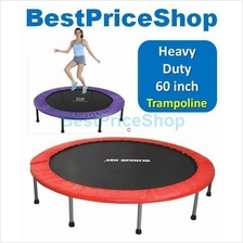 Gym Grade 60 inch Foldable Adult Trampoline Slimming Anti Stress 1yr w